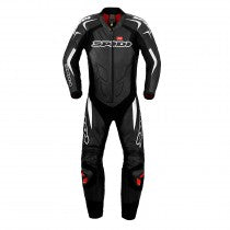 SPIDI GB SUPERSPORT WIND LEATHER SUIT-BLACK/WHITE