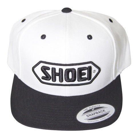 Official Shoei Premium Motorcycle Helmets Baseball Cap Hat - White (Black Logo) - Shoei -  - MSG BIKE GEAR