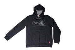 Shoei Motorcycle Helmets Logo Zip Up Hooded Jacket Hoodie - Black - Shoei -  - MSG BIKE GEAR