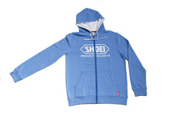 Shoei Motorcycle Helmets Logo Zip Up Hooded Jacket Hoodie - Blue - Shoei -  - MSG BIKE GEAR