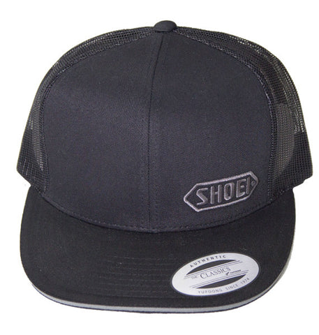 Official Shoei Premium Motorcycle Helmets Trucker Cap Hat - Black (Grey Logo) - Shoei -  - MSG BIKE GEAR