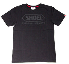 Official Shoei Motorcycle Helmets Logo Short Sleeve T-shirt - Black - Shoei -  - MSG BIKE GEAR