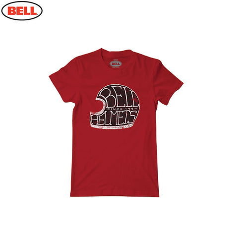 Bell Helmets Womens Cotton T-Shirt Star Cardinal - Red - Bell -  - MSG BIKE GEAR
