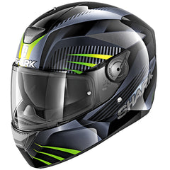 Shark D-Skwal Mercurium Helmet - Black / Anthracite / Green - INCLUDES 3 VISORS