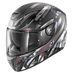 Shark D-Skwal Kanhji Helmet - Matt Black / Anthracite / White - INCLUDES 3 VISORS
