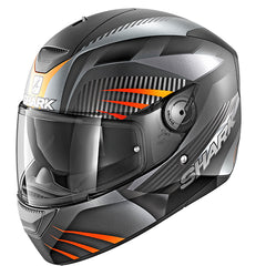 Shark D-Skwal Mercurium Helmet - Matt Black / Anthracite / Orange - INCLUDES 3 VISORS