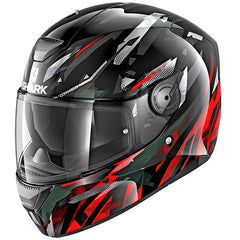 Shark D-Skwal Kanhji Helmet - Black / Red / White - INCLUDES 3 VISORS!