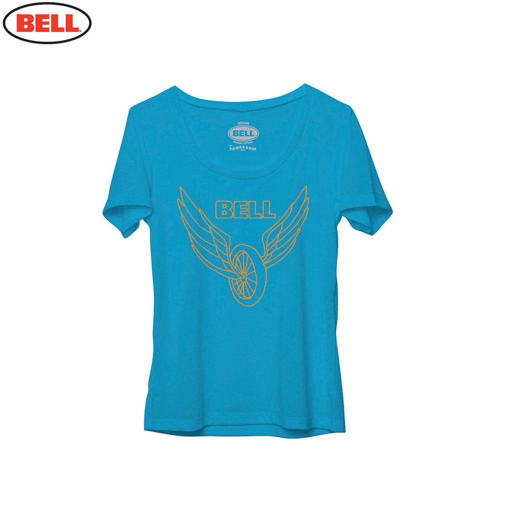 Bell Helmets Womens Cotton T-Shirt Wing & Wheel Teal - Blue - Bell -  - MSG BIKE GEAR