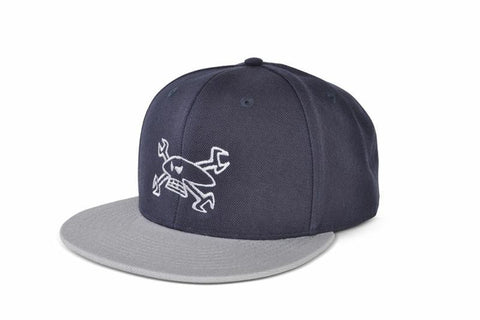 Red Torpedo Guy Martin Primo Quality 'Spannerskull' Hat Cap - Navy / Grey