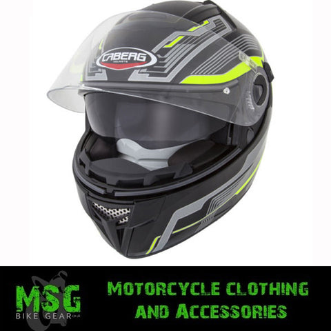 CABERG EGO STREAMLINE BLACKYELLOWFLUO FULL FACE MOTORCYCLE HELMET - Caberg -  - MSG BIKE GEAR