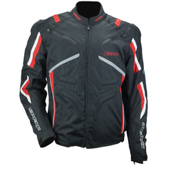 Spada X-sport Waterproof Race Track Textile Motorcycle Jacket Black Red White - Spada -  - MSG BIKE GEAR - 1