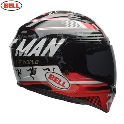 BELL STREET QUALIFIER DLX HELMET IOM BLACK/RED