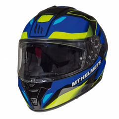 MT Blade 2 SV Fugue Helmet - Blue / Flu Yellow