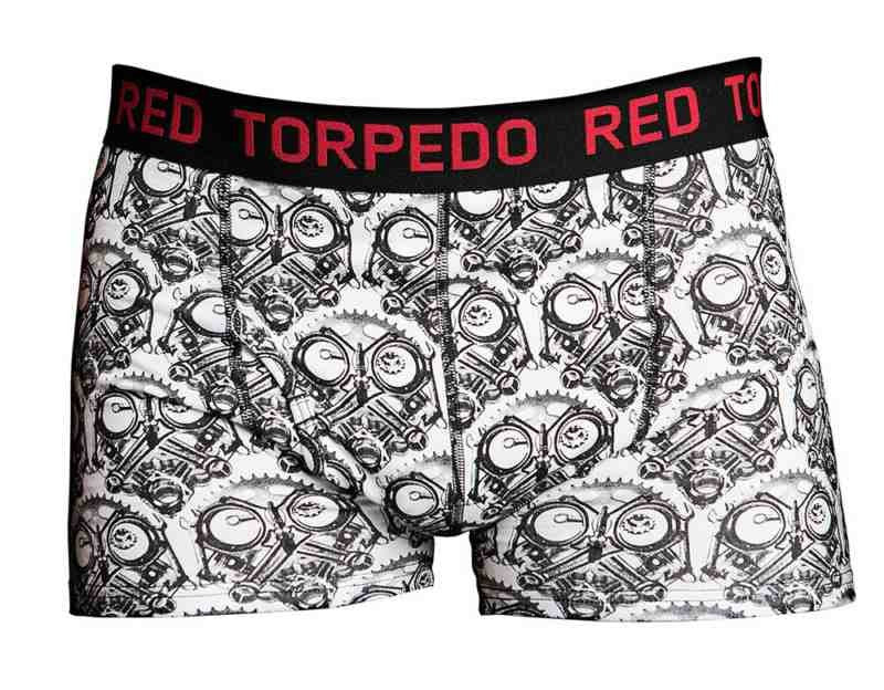 Red Torpedo Primo Quality Petrol Head Men's Underwear Boxer Shorts
