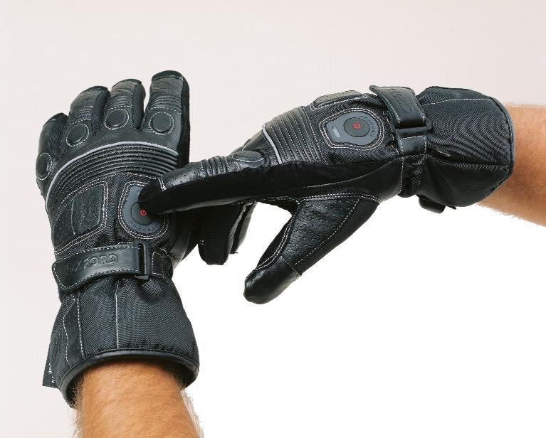 OXFORD Leather Waterproof & Breathable Heated Motorbike Motorcycle Gloves - Oxford -  - MSG BIKE GEAR