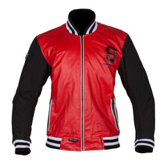 Spada Campus Leather Textile Varsity Style Motorcycle Jacket - Red/Black - Spada -  - MSG BIKE GEAR - 1