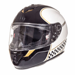 MT Rapide Revival Full Face Helmets - Pearl White/Gold