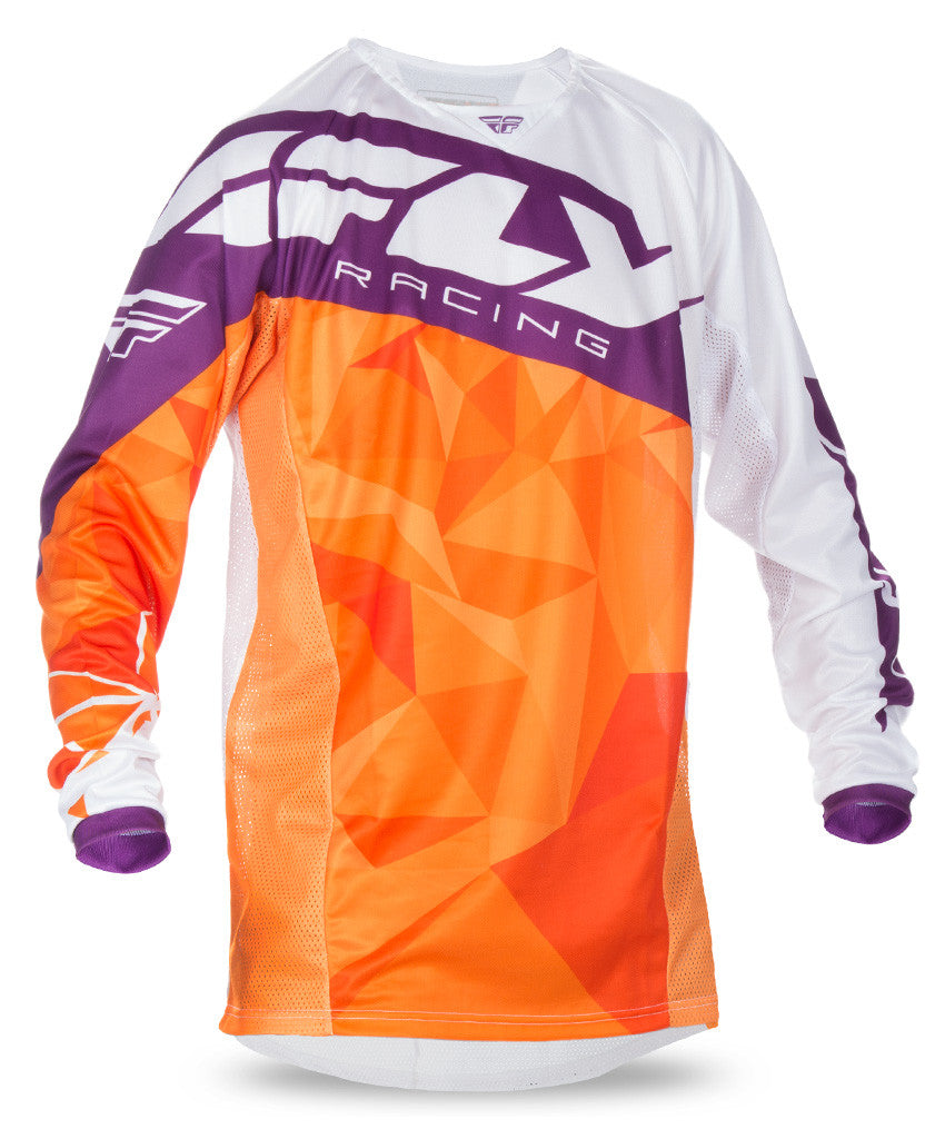 Fly 2017 Kinetic Crux MX Motocross Adult Jersey Orange/White/Burgundy - Fly Racing -  - MSG BIKE GEAR - 1