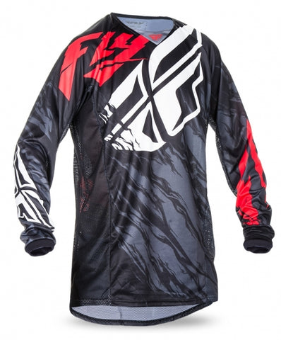 Fly 2017 Kinetic Relapse MX Motocross Adult Jersey Black/Red/White - Fly Racing -  - MSG BIKE GEAR - 1