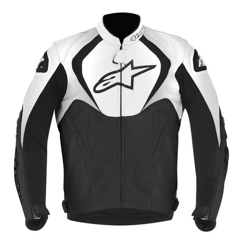 Alpinestars Jaws Leather Motorcycle Jacket Black & White new - Alpinestars -  - MSG BIKE GEAR