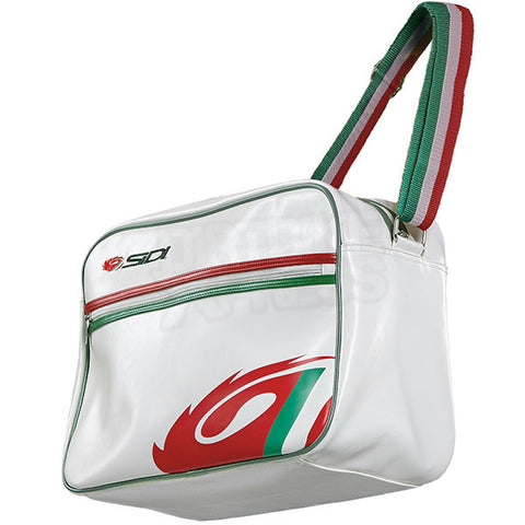 OFFICIAL SIDI CASUALS LUXE FLIGHT COURIER SATCHEL BAG ITALIAN FLAG - CREAM - Sidi -  - MSG BIKE GEAR - 1