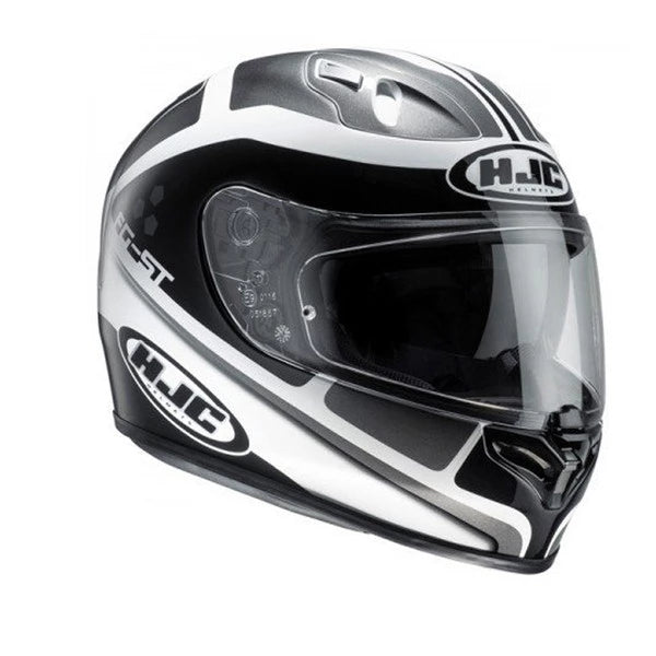 HJC FG-ST Sun Visor Full Face Motorcycle Helmet - Cinnati MC5 Black/White - HJC -  - MSG BIKE GEAR - 1