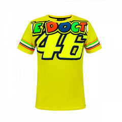 2018 Valentino Rossi 46 The Doctor Stripes Mens T-Shirt - Yellow