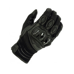 Richa Turbo Summer Mesh Leather/Textile Short Motorcycle Gloves - Black - Richa -  - MSG BIKE GEAR - 1