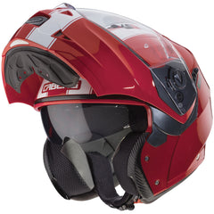 Caberg Duke II Legend Flip Front Helmet - Red / White