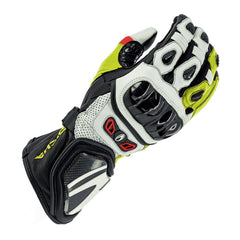 Richa Savage II Mens Leather Sport Gloves - Red/White/Fluo