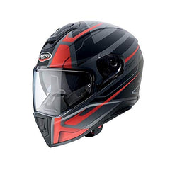 Caberg Drift Shadow DVS Helmet - Gun Metal / Red