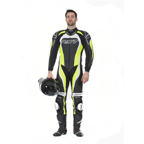 RST TRACTECH EVO II 1415 LEATHER SPORTS TRACK MOTORCYCLE SUIT FLO GREEN - RST -  - MSG BIKE GEAR - 1