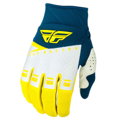 Fly Racing 2019 F-16 Youth Motocross Gloves - Yellow / White / Navy