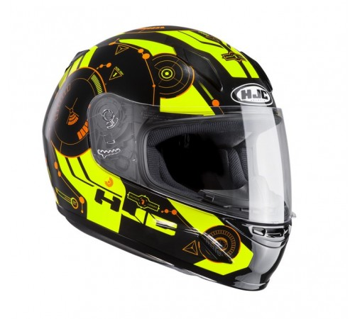 HJC CL-Y Ladies / Childrens Full Face Helmet - Simitic Fluo
