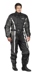 SPADA 407 1 PIECE WATERPROOF MOTORCYCLE MOTORBIKE OVERSUIT BLACK/GREY - Spada -  - MSG BIKE GEAR