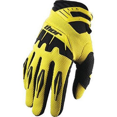 THOR SPECTRUM S12 MOTOCROSS ENDURO OFF ROAD PIT BIKE MX DIRT BIKE GLOVES - THOR - YELLOW / SMALL - MSG BIKE GEAR - 1