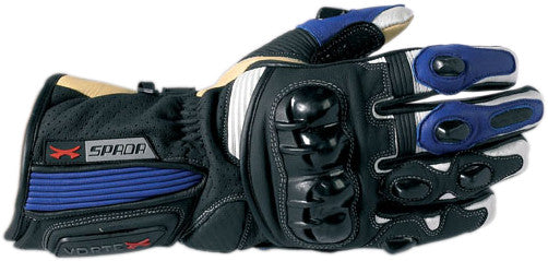 SPADA VORTEX MOTORCYCLE MOTORBIKE GLOVES BLACK/BLUE - Spada -  - MSG BIKE GEAR