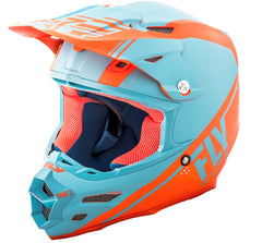 Fly 2018 F2 Carbon Rewire MX Helmet - Matte Blue / Orange