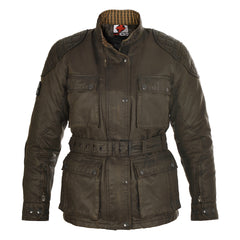 Oxford Heritage LADIES Wax Cotton Motorbike Motorcycle Jacket Olive - Oxford -  - MSG BIKE GEAR - 1