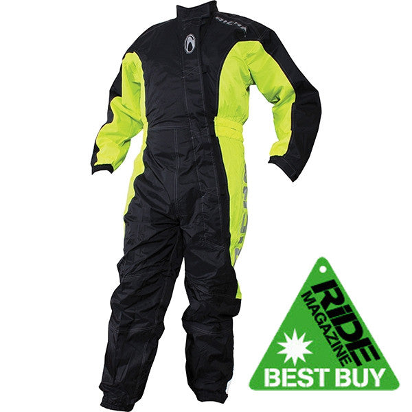 Richa Typhoon Rain Waterproof One Piece Suit overall Black/Fluo Yellow - Richa -  - MSG BIKE GEAR - 1