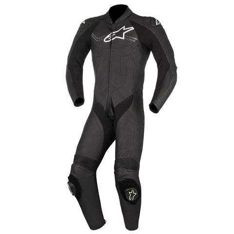 Alpinestars Challanger V2 1 Pc Track / Street Leather Motorcycle Suit - Black