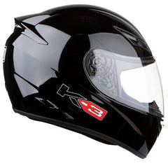 AGV K3 FULL FACE MOTORBIKE MOTORCYCLE ACU GOLD HELMET GLOSS BLACK - AGV -  - MSG BIKE GEAR - 1