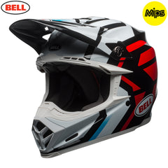 Bell MX 2018 Moto-9 MIPS MX Helmet - District White / Black / Red