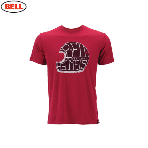 Bell Helmets Mens Premium T-Shirt Bell Star Cardinel - Red - Bell -  - MSG BIKE GEAR