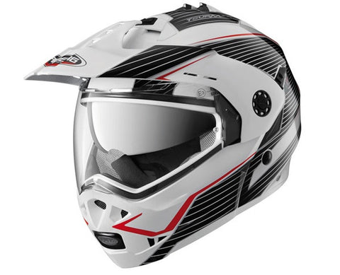 CABERG TOURMAX SONIC WHITE/BLACK/RED FLIP FRONT MOTORCYCLE HELMET - Caberg -  - MSG BIKE GEAR