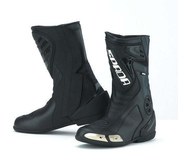 SPADA PREDATOR WATERPROOF MOTORCYCLE SPORTS RACE BOOTS - WP BLACK* - Spada -  - MSG BIKE GEAR