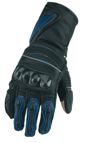 SPADA RACE TECH 2 LEATHER MOTORCYCLE MOTORBIKE GLOVES BLACK/BLUE - Spada -  - MSG BIKE GEAR
