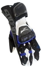 SPADA ELITE MOTORBIKE MOTORCYCLE LEATHER TEXTILE GLOVES BLUE - Spada -  - MSG BIKE GEAR