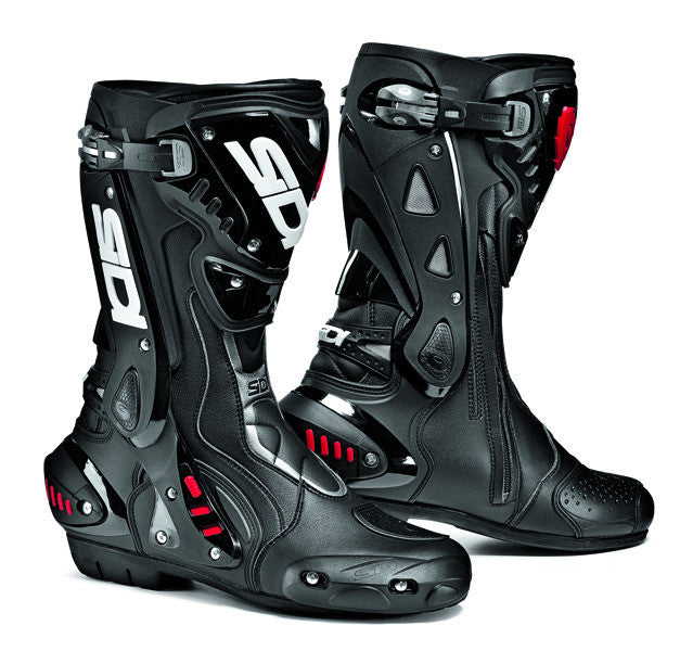 SIDI ST BLACK MOTORCYCLE SPORTS RACE BOOTS + FREE SOCKS - Sidi -  - MSG BIKE GEAR