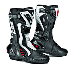 SIDI ST BLACK/WHITE MOTORCYCLE SPORTS RACE BOOTS + FREE SOCKS - SIDI -  - MSG BIKE GEAR